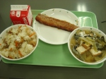 congridae (garden eel), miso soup with lots of tofu, takikomi rice