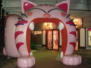 the entrance to Cat's Living