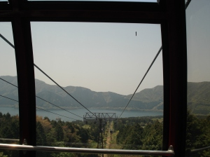 a view from the Hakone Ropeway
