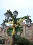 A lamp post with an Iridessa theme.