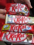 a variety of chocolate Kit Kat sizes