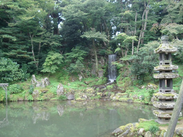 one of the lakes in the garden