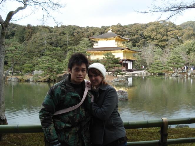at Kinkakuji in Kyoto