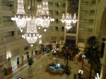 view of the lobby from our floor