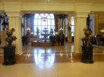 Mickey and Minnie statues in the lobby